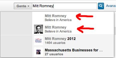 Mitt Romney tenía 2 Perfiles en LinkedIn