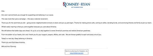 Mitt Romney Despedida Y Merchandise Ana Ramírez De