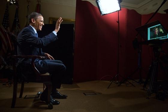 Barack Obama en hangout