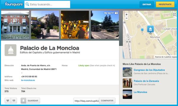 La Moncloa en Foursquare