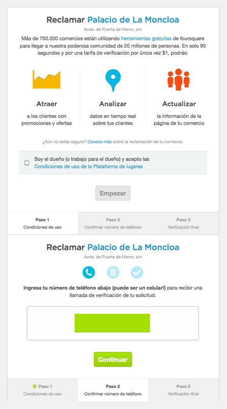 Registrar en 4sq la Moncloa