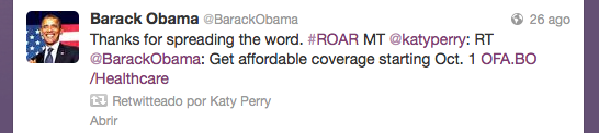ObamaCare  y Katy Perry