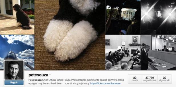 Cuenta en Instagram de Pete Souza