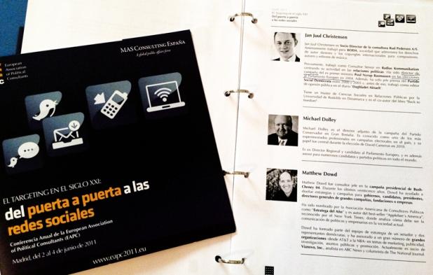 Un programa muy potente en cuanto al mundo de la consultoría política internacional en la EAPC 2011.