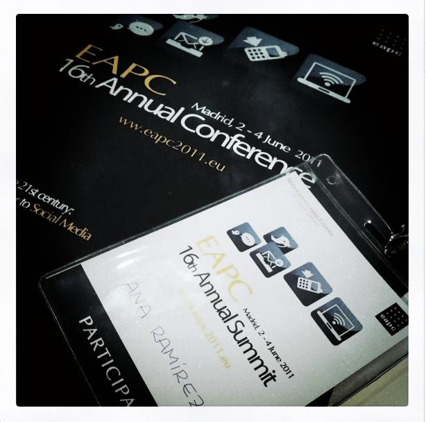Certificado de asistencia a la EAPC 2011