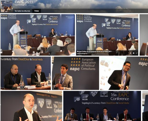 Resumen fotográfico del evento EAPC 2011 en Madrid.