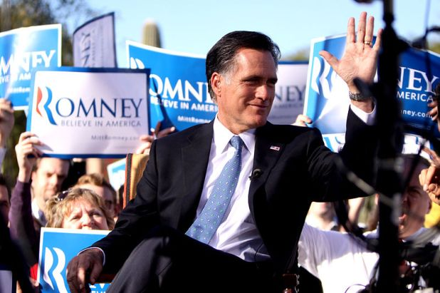 Mitt Romney candidato republicano a las elecciones presidenciales  americanas de 2012.