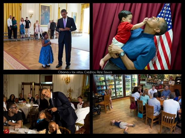 Barack Obama y los niños. Créditos: Pete Souza