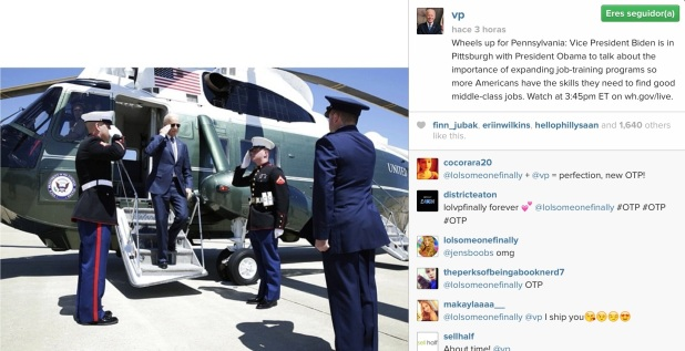 2ª Foto en Instagram de Joe Biden