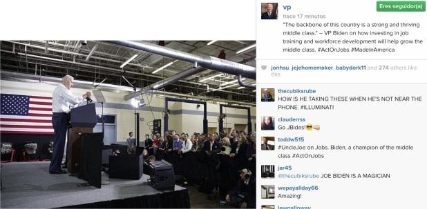 3ª Foto en Instagram de Joe Biden.