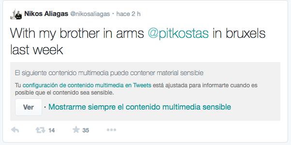 Contenido multimedia sensible en Twitter.