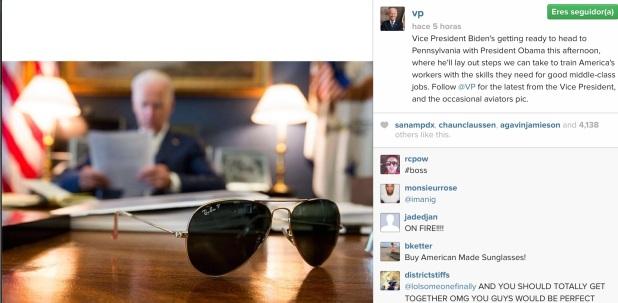 Joe Biden se estrena en Instagram.