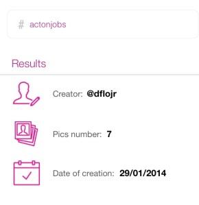 Creador del hashtag #actonjobs