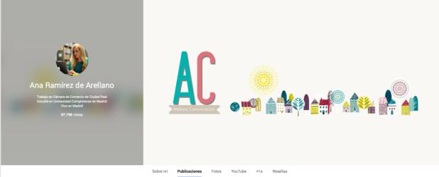 Perfil de Ana Ramírez de Arellano en Google Plus.