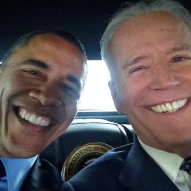 Selfie de Obama y Biden en Instagram