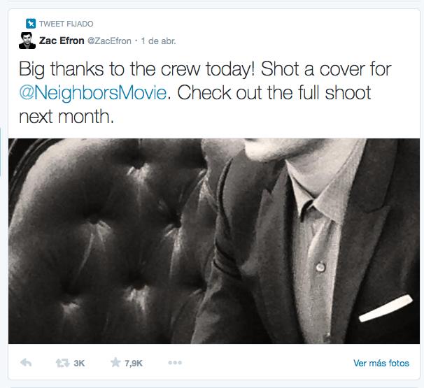 Ejemplo de la nueva funcionalidad de Twitter, los tweets fijados.