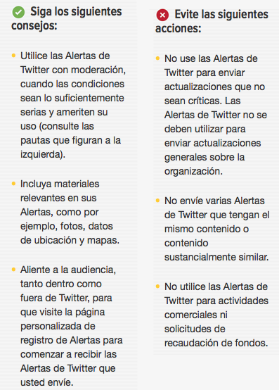 Qué hacer y qué no hacer en Alertas de Twitter