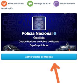 Activas Alertas de @policia