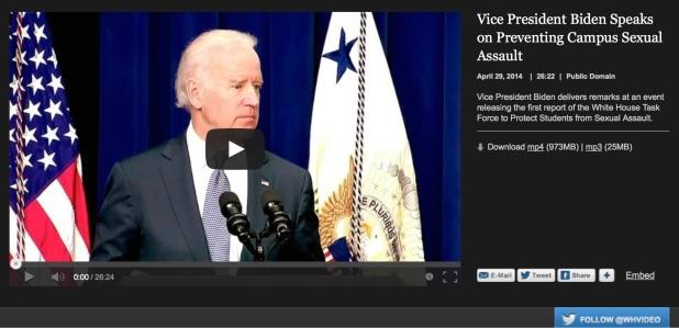 Biden en video en la Casa Blanca