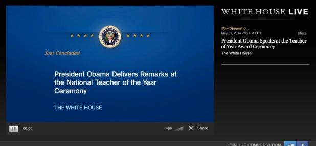 La Casa Blanca en Livestream