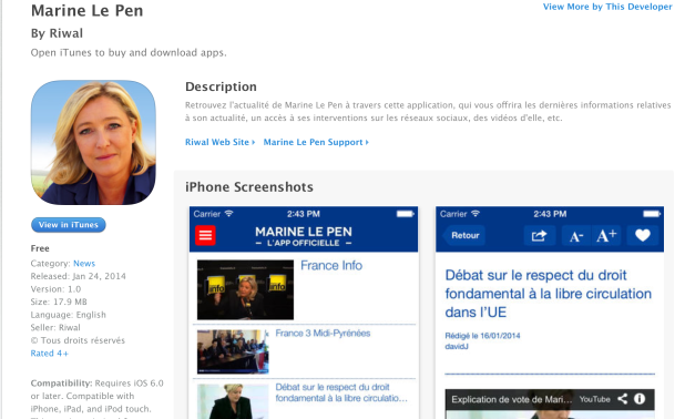 Marine Le Pen App Movil