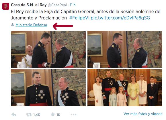 4 Fotografías en Twitter de la Sesión Solemne de Juramento y Proclamación #FelipeVI