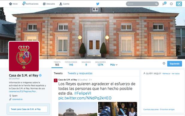 Perfil Oficial Casa de S.M el Rey @casareal