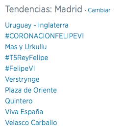 Trending Topic FelipeVI