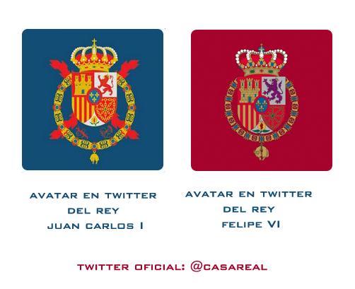 Distintos estandartes del Twitter Oficial @CasaReal