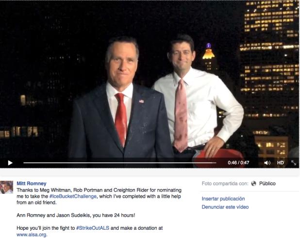 Mitt Romney IceBucketChallenge