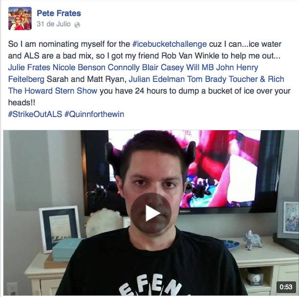 Pete Frates Ice Bucket Challenge